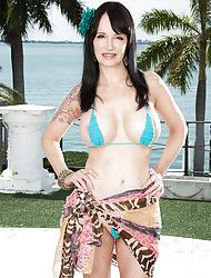Angie's progressive bikini with an increment of progressive toys